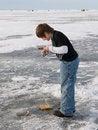 Free Boy Ice Fishing Stock Photos - 29262823