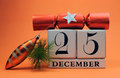 Free Orange Theme Save The Date White Calendar For Christmas Day, December 25. Royalty Free Stock Images - 29263689