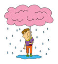Free Raining Umbrella Stock Photos - 29268413