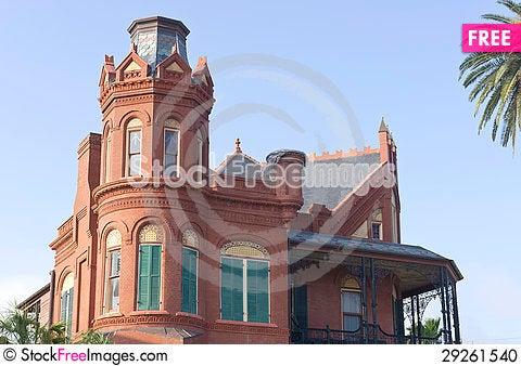 Free Historic Queen Anne Victorian In Galveston, Texas Stock Photo - 29261540