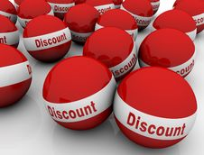 Discount Spheres Royalty Free Stock Images