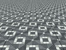 Geometric Floor Texture Stock Images
