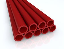 Free Red Tubes Stock Photo - 29260840