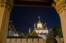 Wat Ratchanatdaram Worawihan Temple, Bangkok Thailand Royalty Free Stock Images