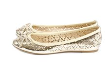 Gold Ballet Slippers 1 Stock Photo