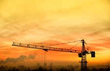Free Building Crane At Sunrise Royalty Free Stock Images - 29263769