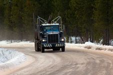 Free Empty Logging Truck Heading For More Logs Stock Photos - 29266073