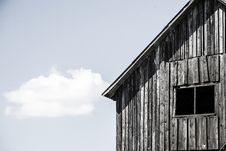 Free Facade Of The Old Wooden House With Window Royalty Free Stock Photography - 29266707