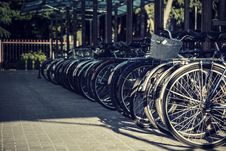Free Many Bicycles Stand One-behind-one Royalty Free Stock Photo - 29266935