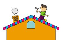 Free Roof Chore Royalty Free Stock Photo - 29268445