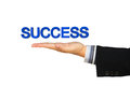 Free Success Message In Businessman Hand Stock Photo - 29278660