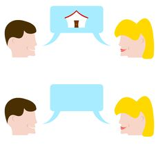 Free Couple Talking About The Home Of Desires Royalty Free Stock Photos - 29271598