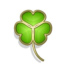 Gold Clover Leaf Royalty Free Stock Photo