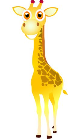 Cute Giraffe Standing Stock Photo