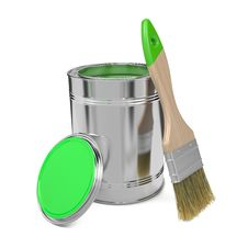 Free Paint Can And Paintbrush. Stock Images - 29275554