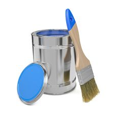 Free Paint Can And Paintbrush. Royalty Free Stock Image - 29275746