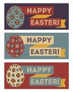 Free Set Of Easter Banners Royalty Free Stock Image - 29282176