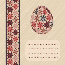 Easter Card With Eggs And Banner. Royalty Free Stock Images