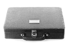 Black Leather Carrying Case Stock Photography