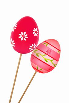 Free Two Colorful Easter Eggs Stock Photography - 29283362