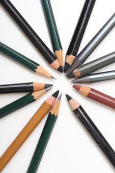 Free Multiple Pencils Isolated Stock Images - 29284094