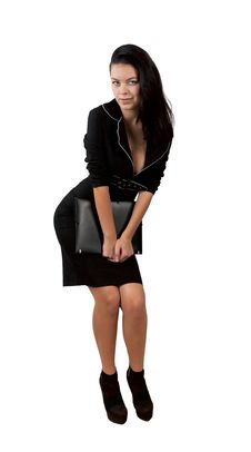 Free Elegant Business Woman Holding Portfolio Stock Photos - 29287313