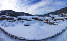 Free Chinese Village Covered By Snow Stock Photos - 29288823