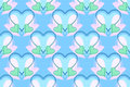 Free Blue, Green And Pink Hearts Pattern Stock Image - 29293021