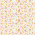 Free Seamless Pattern With Icecream Royalty Free Stock Photography - 29295447