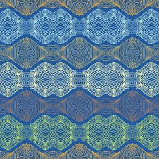 Free Seamless 70 S Ethnic Wallpaper Or Textile Pattern Royalty Free Stock Image - 29290126