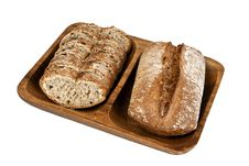 Free Rye Bread On White Royalty Free Stock Photos - 29290158