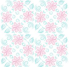Free Felt-tip Pen Outline Flower Pattern Royalty Free Stock Photography - 29294987