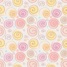 Free Spiral Seamless Pattern Royalty Free Stock Images - 29295579