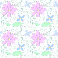 Free Flower Coloured Pencil Pattern Stock Image - 29295601