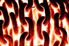 Free Burning Chains Stock Images - 29295774