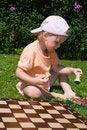 Free Girl Playing Chess Stock Photos - 2934623