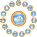 Free Money Icons Stock Image - 2939321