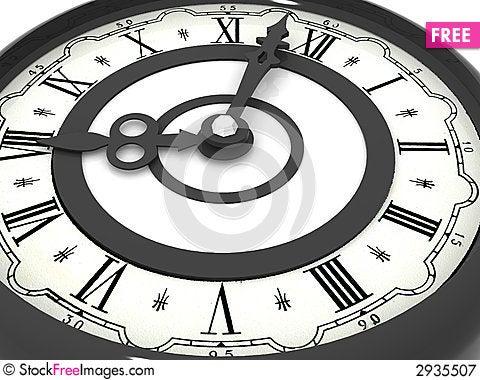 Clock. eight o'clock Cartoon Illustration