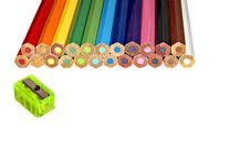 Free Unsharpened Colored Pencils Royalty Free Stock Photography - 2930027