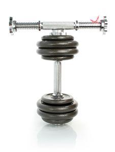 Free Iron Dumbbells On White Stock Photography - 2931382