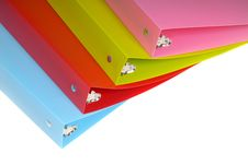 Colorful Three Ring Binders Royalty Free Stock Image