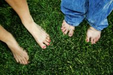Free Painted Toes On Grass Stock Images - 2932144