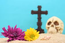 Free Flowers And Skull Stock Images - 2934214