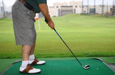 Golfer Playing Royalty Free Stock Images
