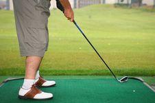 Golfer Playing Stock Photo