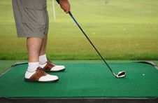Golfer Playing Stock Images