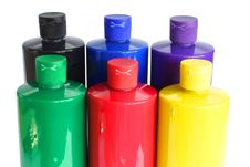 Free Bottles Of Paint Stock Photography - 2934842