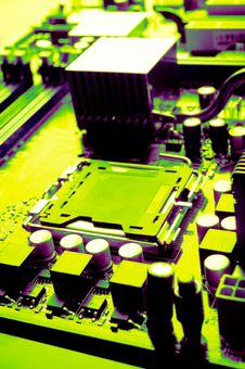 Computer Motherboard Royalty Free Stock Images