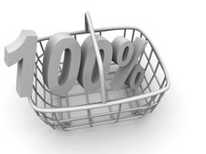 Free Consumer S Basket With Percent Stock Image - 2935481