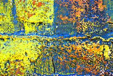 Free Grunge Painted Brick Wall Royalty Free Stock Photos - 2936408